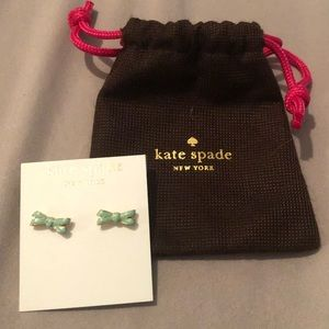 Kate Spade Double Bow Studs (Mint)